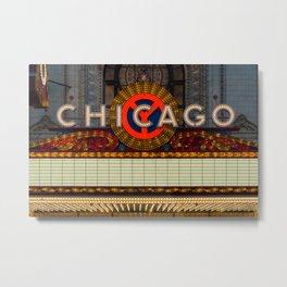 Glowing Chicago Metal Print
