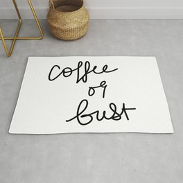 Coffee Or Bust | White Rug