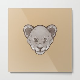 Icons of Africa - Lion Cub (Brown) Metal Print