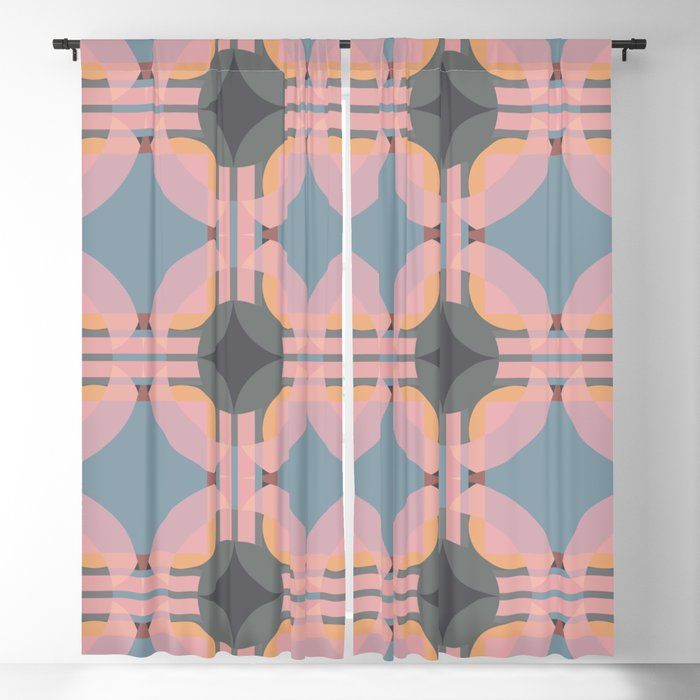 Chichevache - Colorful Decorative Abstract Art Pattern Blackout Curtain