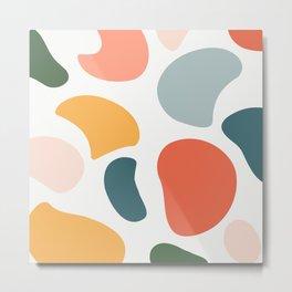 Colorful Moo Metal Print