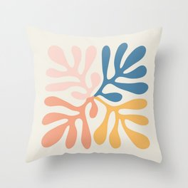 Seaweed Inspired to Matisse Throw Pillow