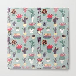Houseplants Pattern 02 Metal Print