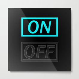 Light On And Off Button Metal Print