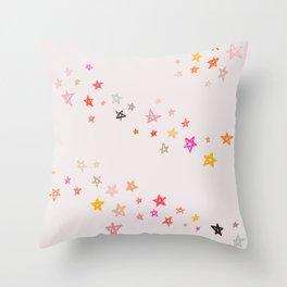 Pastel stars Throw Pillow