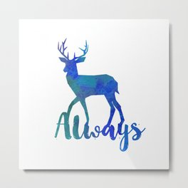 Always - Blue Metal Print