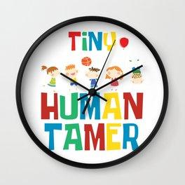 Kindergarten Cute Kids Children Baby Gift Tiny Human Tamer Wall Clock