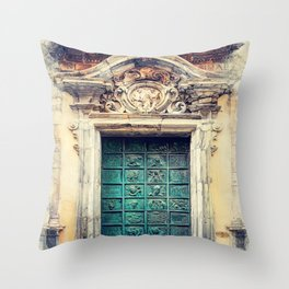 Trapani art 22 Sicily Throw Pillow