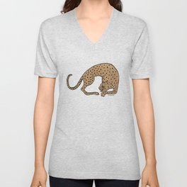 Cheetah Unisex V-Neck