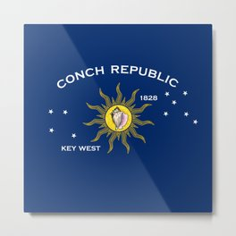 Conch Republic Flag Metal Print