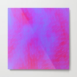 Line texture of violet oblique dashes with a luminous intersection on a luminous charcoal. Metal Print