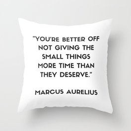 MARCUS AURELIUS  Stoic Philosophy Quote Throw Pillow