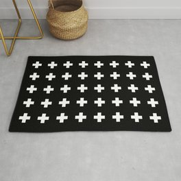 Swiss Cross Black Rug
