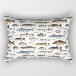 A Few Freshwater Fish Rectangular Pillow