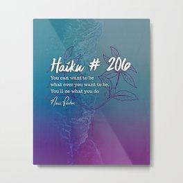 Neici Parker Haiku - 206 Metal Print