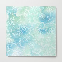Watercolour abstract floral 2 Metal Print