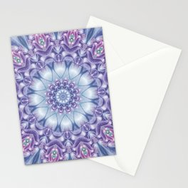 Blue, Purple, and Pink Mandala Stationery Cards