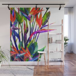 The bird of paradise Wall Mural