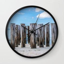 Pilar Beach Wall Clock