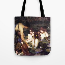 Hylas and the Nymphs,  John William Waterhouse Tote Bag