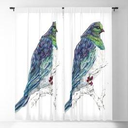 Mr Kereru, New Zealand native wood pigeon Blackout Curtain