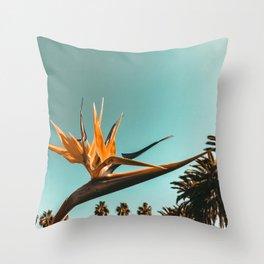 Birds of Paradise Print {1 of 3} | Palm Trees Ocean Summer Beach Teal Photography Art Throw Pillow