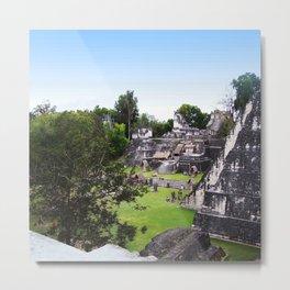 Tikal Guatemala Mayan Ruins Metal Print