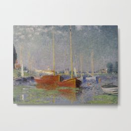 Red Boats at Argenteuil is a painting by artist Claude Monet. Metal Print