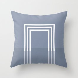 Portals - The Square - Slate Throw Pillow