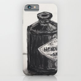 Gin and Charcoal iPhone Case