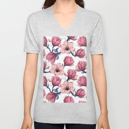 Magnolia garden 2   Unisex V-Neck