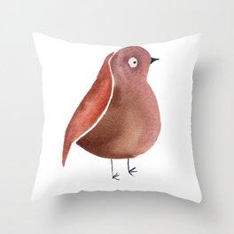 Anxiety Bird Throw Pillow