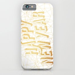 Happy New Year – White iPhone Case