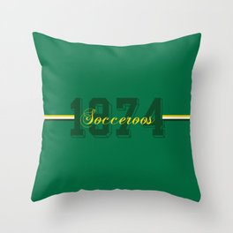 The Socceroos of 1974 Throw Pillow