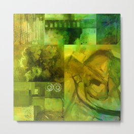 Green Collage Metal Print