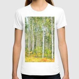 Sunny Day in Beautiful Birch Grove Landscape #decor #society6 #buyart T-shirt