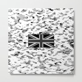 Camouflage: Alpine VI (British Flag) Metal Print