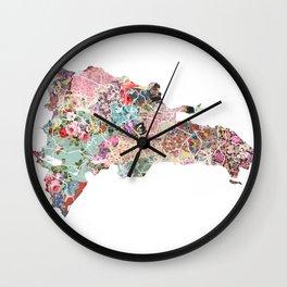 Dominican Republic map Wall Clock