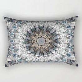 Gray, blue Mandala Rectangular Pillow