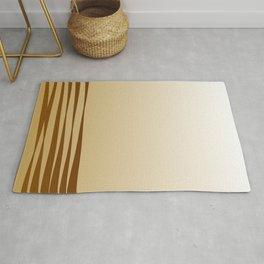 Gold vintage lines ethno Rug