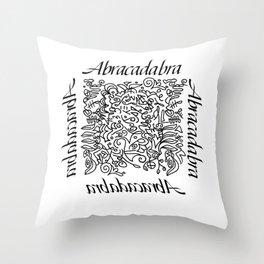 Abracadabra - I create as I speak Throw Pillow