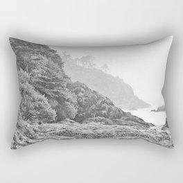 Washington Coast Mist Fog Shoreline Beach Pacific Ocean Long Beach Beards Hollow Forest Northwest Rectangular Pillow