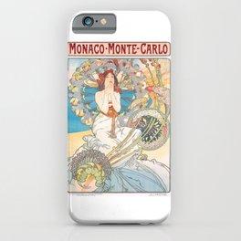 1897 Alphonse Mucha Monaco Monte-Carlo Poster iPhone Case
