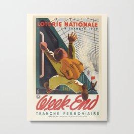 Vintage poster-National lotteries-weekend 1939. Metal Print