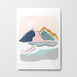 Minimalistic Landscape Metal Print