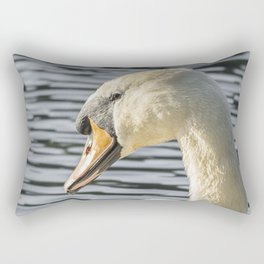 swan wildlife bird Rectangular Pillow