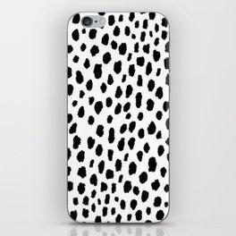Dalmatian Spots (black/white) iPhone Skin