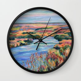 Autumn on the Delaware River Wall Clock