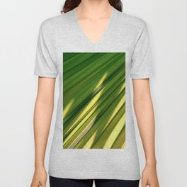 Palm Leaf Close-Up In Luxurious Dappled Sunlight Unisex V-Neck