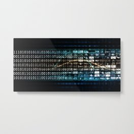 Evolving Technology Evolution As A Background Art Metal Print